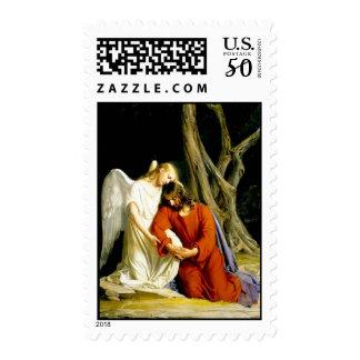 Jesus in the garden of Gethsemane Postage