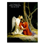 Jesus in the garden of Gethsemane Postcard