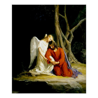 Jesus in the garden of Gethsemane Print