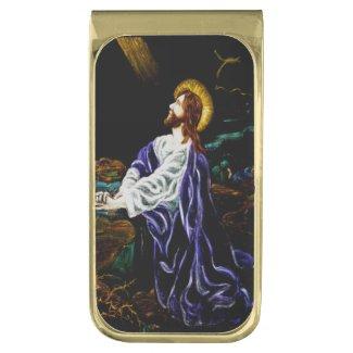 Jesus in the Garden of Gethsemane Gold Finish Money Clip