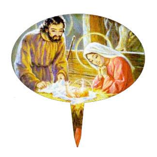 Jesus In The Manger Christmas Nativity Cake Topper