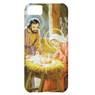 Jesus In The Manger Christmas Nativity Cover For iPhone 5C