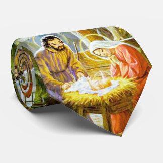 Jesus In The Manger Christmas Nativity Neck Tie