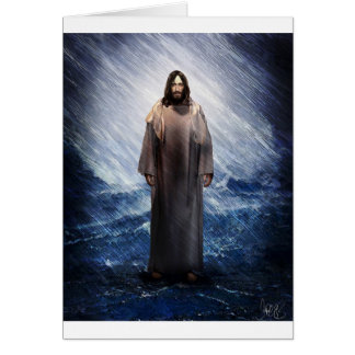Jesus in the storm greeting card