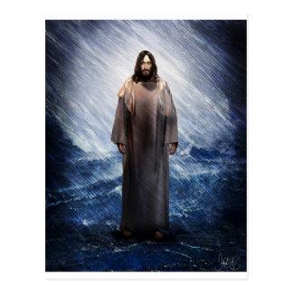 Jesus in the storm postcard