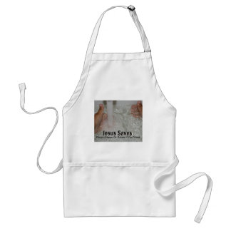 Jesus In Water With Two Thumbs Up Church Promotion Adult Apron