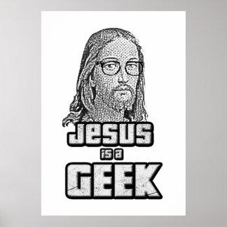 Jesus is a geek poster