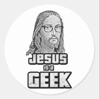 Jesus is a geek sticker
