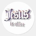 Jesus is Alive 3D Round Sticker