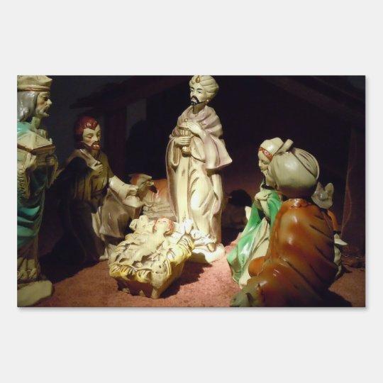 Jesus is Born Lawn Sign