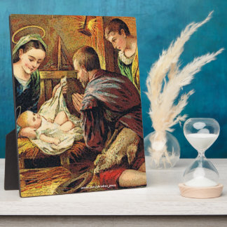 JESUS IS BORN PLAQUE