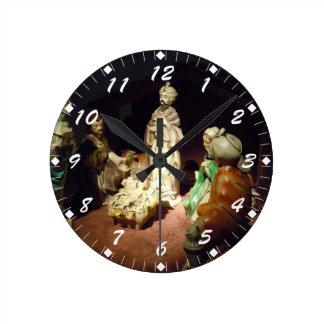 Jesus is Born Round Clock