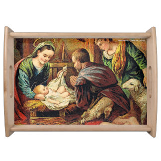 JESUS IS BORN SERVING TRAY