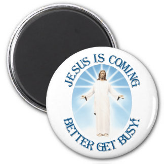 Jesus is Coming 2 Inch Round Magnet