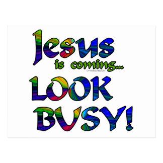 Jesus is coming...2 postcards