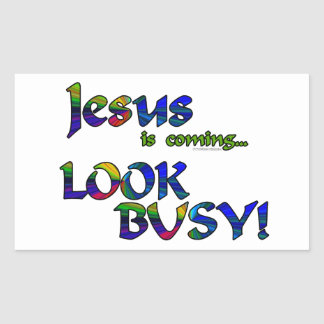 Jesus is coming...2 rectangular sticker