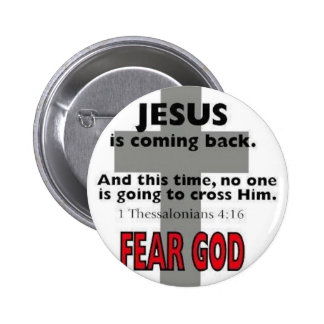 Jesus Is Coming Back Button