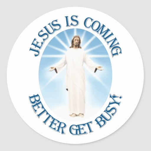 Jesus is Coming Stickers
