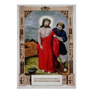 Jesus is despoiled of-his vestments Poster Print
