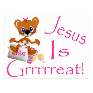 Jesus is Grrrrreat! Postcard