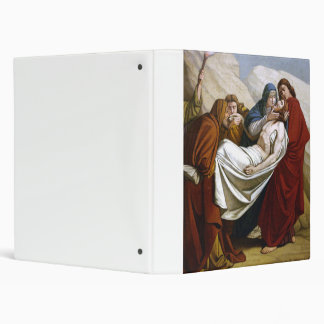 Jesus is Laid in the Tomb Stations of the Cross 14 Vinyl Binder