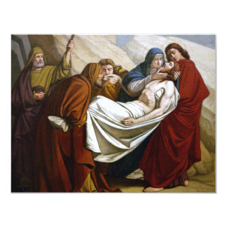 Jesus is Laid in the Tomb Stations of the Cross 14 Card