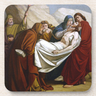 Jesus is Laid in the Tomb Stations of the Cross 14 Coaster