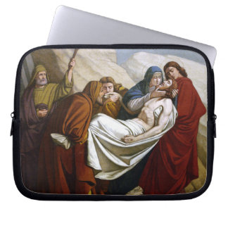Jesus is Laid in the Tomb Stations of the Cross 14 Laptop Sleeve