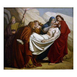 Jesus is Laid in the Tomb Stations of the Cross 14 Poster