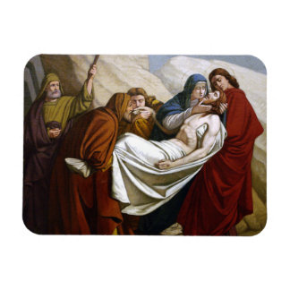 Jesus is Laid in the Tomb Stations of the Cross 14 Rectangular Photo Magnet