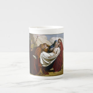 Jesus is Laid in the Tomb Stations of the Cross 14 Porcelain Mug