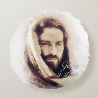 Jesus is Lord AA Round Pillows Round Pillow