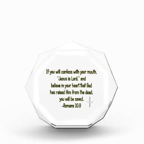 Jesus Is Lord Acrylic Award