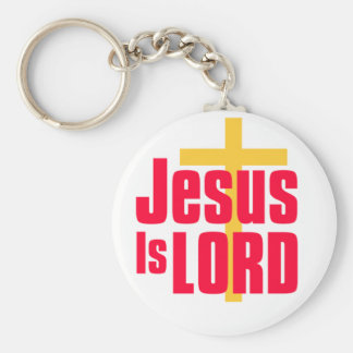 Jesus is Lord christian design Keychain