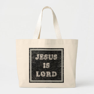 Jesus Is Lord Christian Faith Large Tote Bag