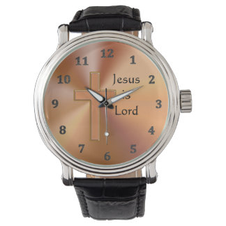 Jesus is Lord Cross Watches for Men Personalized