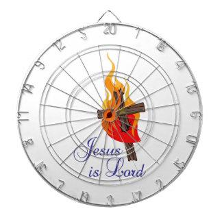 JESUS IS LORD DARTBOARD WITH DARTS