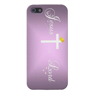 Jesus is Lord iPhone 5/5s case, Orchid iPhone SE/5/5s Case