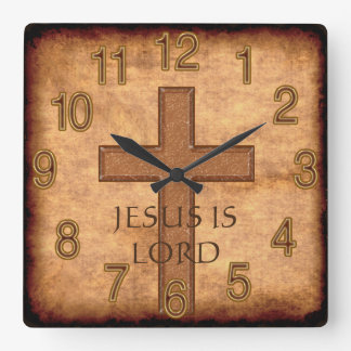 Jesus is Lord or YOUR TEXT Christian Clocks