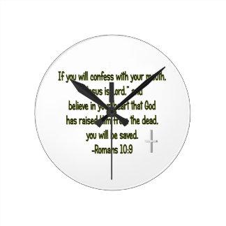 Jesus Is Lord Round Clock