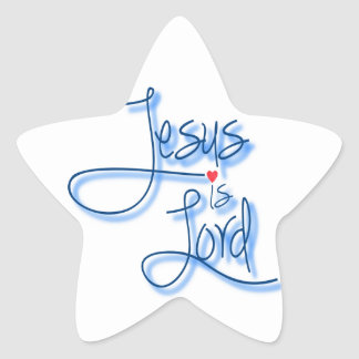 Jesus is Lord. Star Sticker