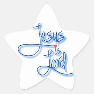 Jesus is Lord. Star Sticker
