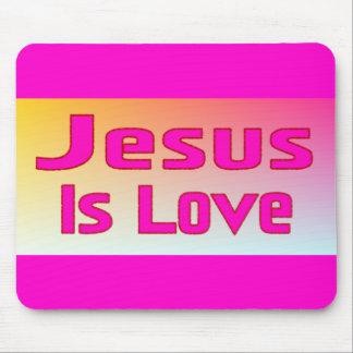 Jesus Is Love Mousepads