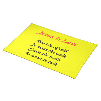 Jesus is love table mats placemat