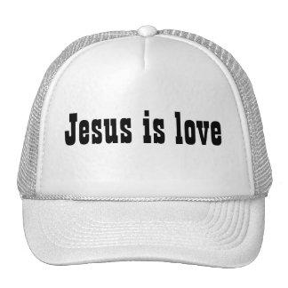 Jesus is love trucker hat