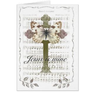 Jesus is Mine Butterfly Card