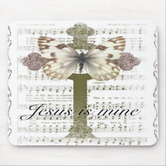 Jesus is Mine Butterfly Mouse Pad