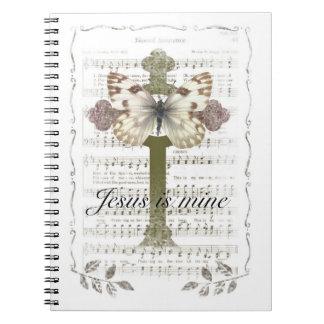 Jesus is Mine Butterfly Notebook
