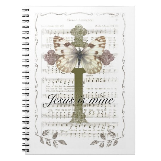 Jesus is Mine Butterfly Notebook