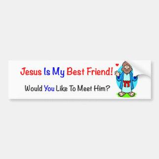 Jesus Is My Best Friend Bumper Sticker